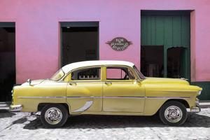 Cuba Fuerte Collection - Retro Yellow Car by Philippe Hugonnard