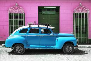 Cuba Fuerte Collection - Skyblue Vintage Car by Philippe Hugonnard