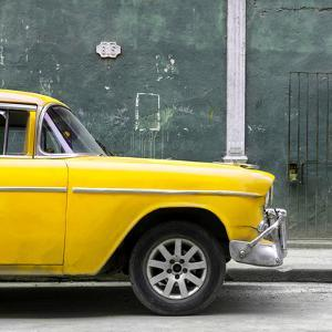 Cuba Fuerte Collection SQ - 615 Street and Yellow Car by Philippe Hugonnard