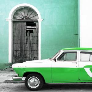 Cuba Fuerte Collection SQ - American Classic Car White and Green by Philippe Hugonnard