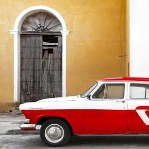 Cuba Fuerte Collection SQ - American Classic Car White and Red by Philippe Hugonnard