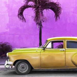 Cuba Fuerte Collection SQ - Beautiful Retro Golden Car by Philippe Hugonnard