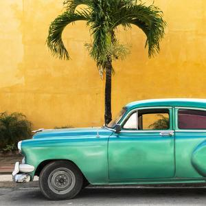 Cuba Fuerte Collection SQ - Beautiful Retro Green Car by Philippe Hugonnard