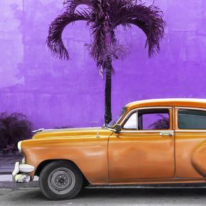 Cuba Fuerte Collection SQ - Beautiful Retro Orange Car by Philippe Hugonnard