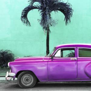 Cuba Fuerte Collection SQ - Beautiful Retro Purple Car by Philippe Hugonnard