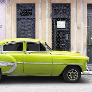Cuba Fuerte Collection SQ - Bel Air Classic Lime Green Car by Philippe Hugonnard