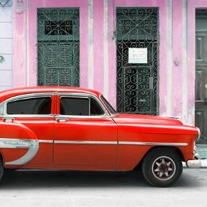 Cuba Fuerte Collection SQ - Bel Air Classic Red Car by Philippe Hugonnard