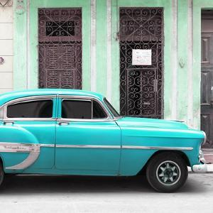 Cuba Fuerte Collection SQ - Bel Air Classic Turquoise Car by Philippe Hugonnard
