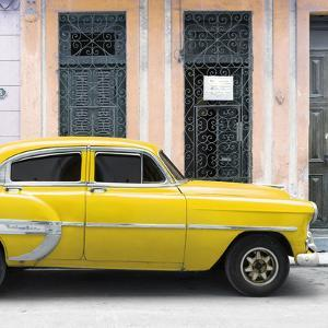 Cuba Fuerte Collection SQ - Bel Air Classic Yellow Car by Philippe Hugonnard