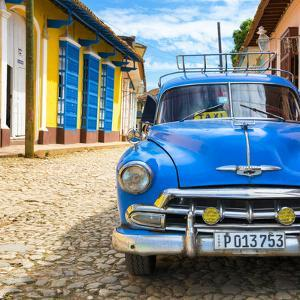 Cuba Fuerte Collection SQ - Blue Taxi in Trinidad by Philippe Hugonnard