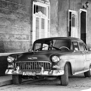 Cuba Fuerte Collection SQ BW - American Classic Car II by Philippe Hugonnard