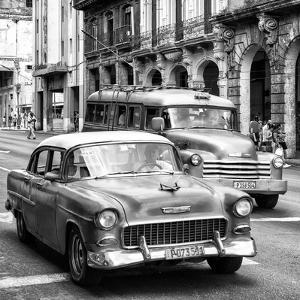 Cuba Fuerte Collection SQ BW BW - Taxi Cars Havana by Philippe Hugonnard