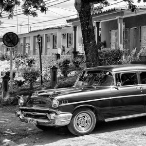 Cuba Fuerte Collection SQ BW - Classic Car in Vinales II by Philippe Hugonnard