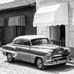 Cuba Fuerte Collection SQ BW - Cuban Taxi Trinidad II by Philippe Hugonnard