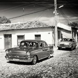 Cuba Fuerte Collection SQ BW - Cuban Taxis II by Philippe Hugonnard