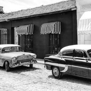 Cuba Fuerte Collection SQ BW - Cuban Taxis Trinidad II by Philippe Hugonnard
