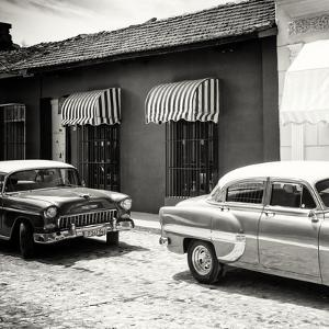 Cuba Fuerte Collection SQ BW - Cuban Taxis Trinidad by Philippe Hugonnard