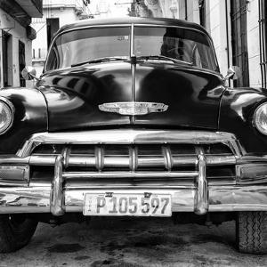 Cuba Fuerte Collection SQ BW - Detail on Classic Chevy by Philippe Hugonnard