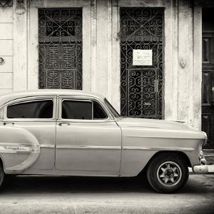 Cuba Fuerte Collection SQ BW - Old Bel Air Classic Car by Philippe Hugonnard