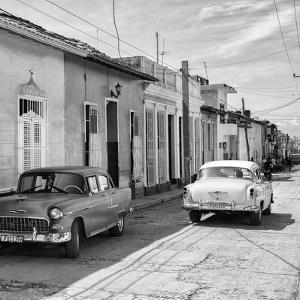 Cuba Fuerte Collection SQ BW - Old Cars in Trinidad II by Philippe Hugonnard