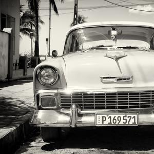 Cuba Fuerte Collection SQ BW - Old Classic Chevy by Philippe Hugonnard