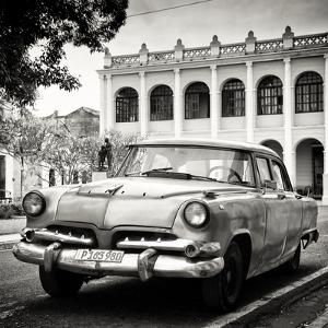 Cuba Fuerte Collection SQ BW - Retro Car in the Street by Philippe Hugonnard