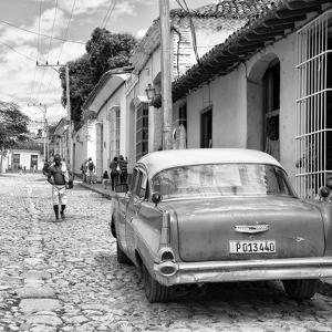 Cuba Fuerte Collection SQ BW - Street Scene Trinidad II by Philippe Hugonnard