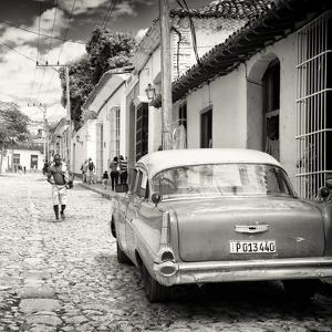 Cuba Fuerte Collection SQ BW - Street Scene Trinidad by Philippe Hugonnard
