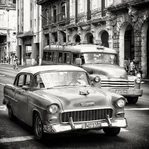 Cuba Fuerte Collection SQ BW - Taxi Cars Havana by Philippe Hugonnard