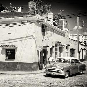 Cuba Fuerte Collection SQ BW - Trinidad Street Scene V by Philippe Hugonnard