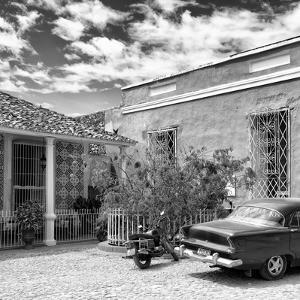 Cuba Fuerte Collection SQ BW - Trinidad Street Scene by Philippe Hugonnard