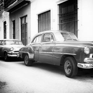 Cuba Fuerte Collection SQ BW - Two Old Classic Cars by Philippe Hugonnard