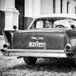 Cuba Fuerte Collection SQ BW - Vintage American Car by Philippe Hugonnard