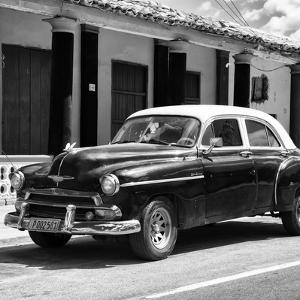 Cuba Fuerte Collection SQ BW - Vintage Black Car by Philippe Hugonnard