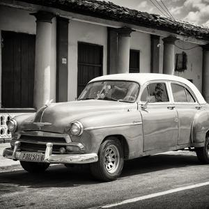 Cuba Fuerte Collection SQ BW - Vintage Car by Philippe Hugonnard
