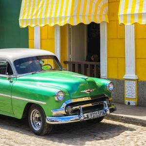 Cuba Fuerte Collection SQ - Close-up of Cuban Green Taxi by Philippe Hugonnard
