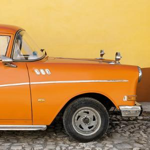 Cuba Fuerte Collection SQ - Close-up of Retro Orange Car by Philippe Hugonnard
