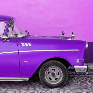 Cuba Fuerte Collection SQ - Close-up of Retro Purple Car by Philippe Hugonnard