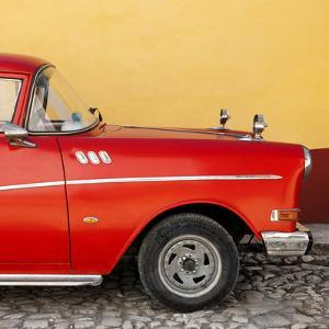 Cuba Fuerte Collection SQ - Close-up of Retro Red Car by Philippe Hugonnard