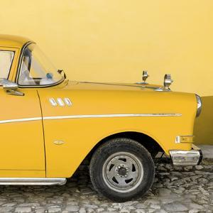 Cuba Fuerte Collection SQ - Close-up of Retro Yellow Car by Philippe Hugonnard