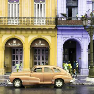 Cuba Fuerte Collection SQ - Colorful Architecture and Classic Golden Car by Philippe Hugonnard