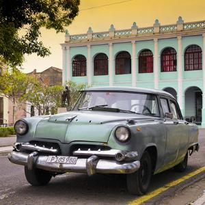 Cuba Fuerte Collection SQ - Cuban Retro Car at Sunset II by Philippe Hugonnard