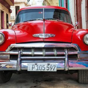 Cuba Fuerte Collection SQ - Detail on Red Classic Chevy by Philippe Hugonnard