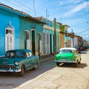 Cuba Fuerte Collection SQ - Green Cars in Trinidad by Philippe Hugonnard