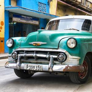 Cuba Fuerte Collection SQ - Green Classic Car by Philippe Hugonnard