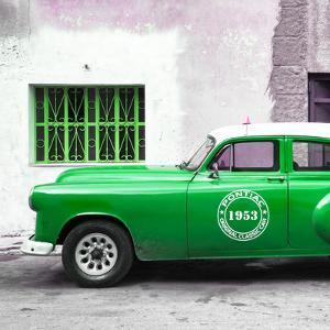 Cuba Fuerte Collection SQ - Green Pontiac 1953 Original Classic Car by Philippe Hugonnard