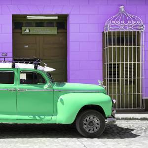 Cuba Fuerte Collection SQ - Green Vintage Car Trinidad by Philippe Hugonnard