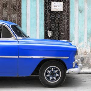 Cuba Fuerte Collection SQ - Havana Blue Car by Philippe Hugonnard