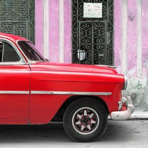 Cuba Fuerte Collection SQ - Havana Red Car by Philippe Hugonnard