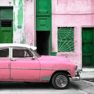 Cuba Fuerte Collection SQ - Havana's Pink Vintage Car by Philippe Hugonnard